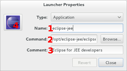 Eclipse: Launcher dialog